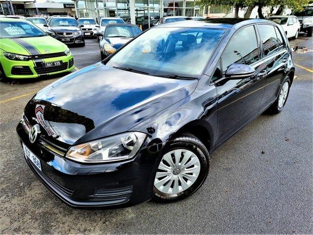 Used Volkswagen Golf VII MY14 90TSI Seaford, 2014 Volkswagen Golf VII MY14 90TSI Black 6 Speed Manual Hatchback