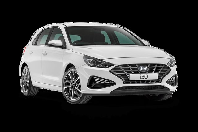 New Hyundai i30 Elite Rutherford, 2021 Hyundai i30 PD.V4 Elite Polar White 6 Speed Automatic Hatchback