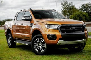 2021 Ford Ranger PX MkIII 2021.75MY Wildtrak Orange 6 Speed Sports Automatic Double Cab Pick Up.