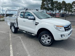 2013 Ford Ranger PX XL Hi-Rider White 6 Speed Sports Automatic Cab Chassis.