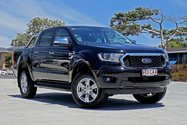 Used Ford Ranger PX MkIII 2021.25MY XLT Hi-Rider Capalaba, 2021 Ford Ranger PX MkIII 2021.25MY XLT Hi-Rider Black 6 Speed Sports Automatic Double Cab Pick Up