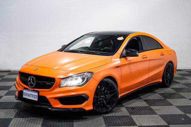 Used Mercedes-Benz CLA-Class C117 805+055MY CLA45 AMG SPEEDSHIFT DCT 4MATIC Edgewater, 2015 Mercedes-Benz CLA-Class C117 805+055MY CLA45 AMG SPEEDSHIFT DCT 4MATIC Orange 7 Speed