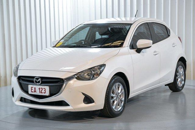 Used Mazda 2 DJ2HAA Maxx SKYACTIV-Drive Hendra, 2015 Mazda 2 DJ2HAA Maxx SKYACTIV-Drive White 6 Speed Sports Automatic Hatchback