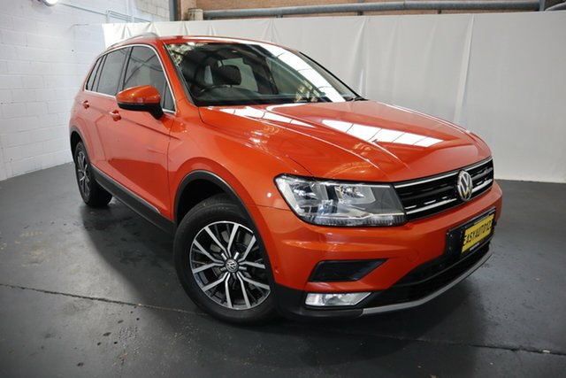 Used Volkswagen Tiguan 5N MY17 132TSI DSG 4MOTION Comfortline Castle Hill, 2017 Volkswagen Tiguan 5N MY17 132TSI DSG 4MOTION Comfortline Orange 7 Speed