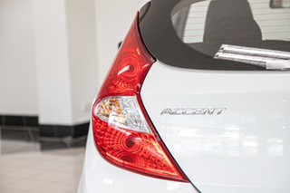 2015 Hyundai Accent RB3 MY16 Active White 6 Speed Manual Hatchback