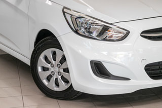 2015 Hyundai Accent RB3 MY16 Active White 6 Speed Manual Hatchback.