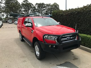 2016 Ford Ranger PX MkII XLT Double Cab 4x2 Hi-Rider Red 6 speed Automatic Utility.