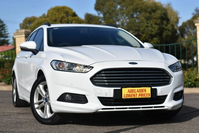 Used Ford Mondeo MD Ambiente Enfield, 2015 Ford Mondeo MD Ambiente White 6 Speed Sports Automatic Dual Clutch Wagon