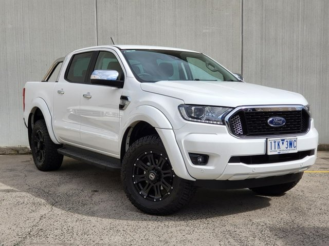 Used Ford Ranger PX MkIII 2021.25MY XLT Hi-Rider Oakleigh, 2021 Ford Ranger PX MkIII 2021.25MY XLT Hi-Rider White 6 Speed Sports Automatic Double Cab Pick Up
