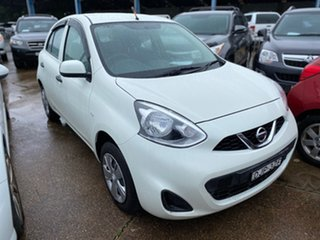 2016 Nissan Micra K13 Series 4 MY15 ST White 4 Speed Automatic Hatchback.