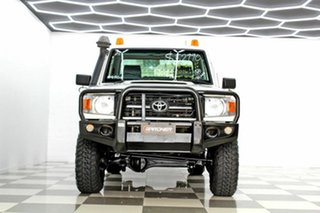 2014 Toyota Landcruiser VDJ79R MY12 Update Workmate (4x4) White 5 Speed Manual Cab Chassis