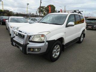 2007 Toyota Landcruiser Prado GRJ120R 07 Upgrade GXL (4x4) White 5 Speed Automatic Wagon.
