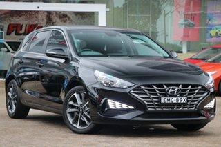 2021 Hyundai i30 PD.V4 MY21 Active Black 6 Speed Automatic Hatchback.