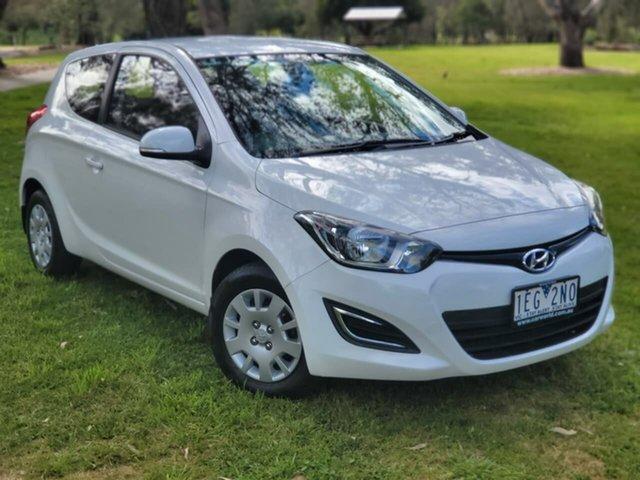 Used Hyundai i20 PB MY15 Active Wodonga, 2014 Hyundai i20 PB MY15 Active White 4 Speed Automatic Hatchback