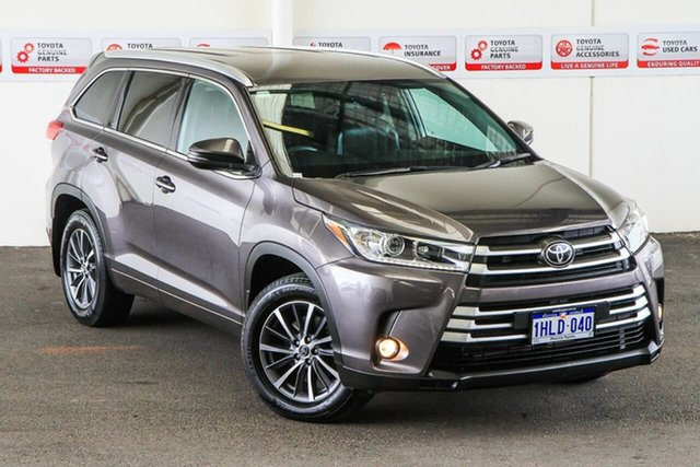 Pre-Owned Toyota Kluger GSU55R GXL AWD Myaree, 2019 Toyota Kluger GSU55R GXL AWD Predawn Grey 8 Speed Sports Automatic Wagon
