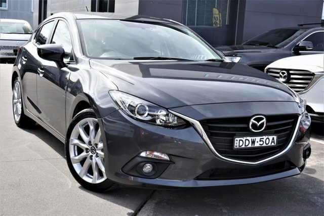 Used Mazda 3 BM5438 SP25 SKYACTIV-Drive Phillip, 2016 Mazda 3 BM5438 SP25 SKYACTIV-Drive Grey 6 Speed Sports Automatic Hatchback