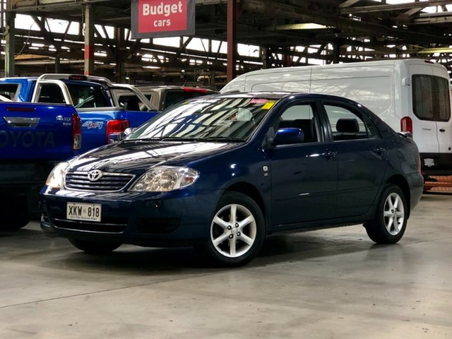 Used Toyota Corolla ZZE122R 5Y Ascent Sport Mile End South, 2006 Toyota Corolla ZZE122R 5Y Ascent Sport Blue 4 Speed Automatic Sedan