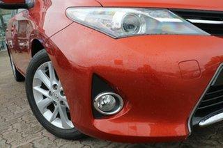 2013 Toyota Corolla ZRE182R Ascent Sport Orange 7 Speed CVT Auto Sequential Hatchback.
