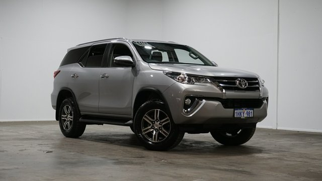 Used Toyota Fortuner GUN156R GXL Welshpool, 2018 Toyota Fortuner GUN156R GXL Silver 6 Speed Automatic Wagon