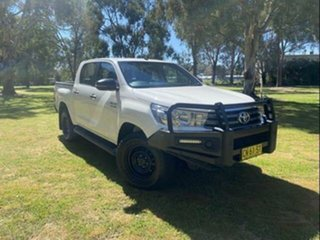 2017 Toyota Hilux GUN126R MY17 SR (4x4) Glacier White 6 Speed Automatic Dual Cab Utility.