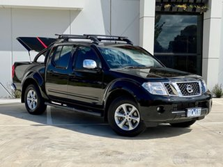 2011 Nissan Navara D40 MY11 ST-X 550 Black 7 Speed Sports Automatic Utility.