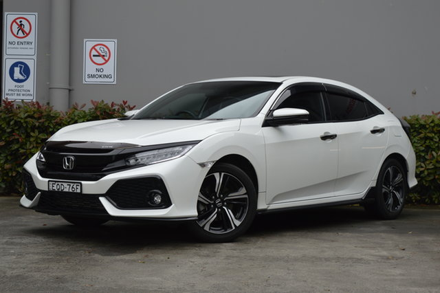 Used Honda Civic 10th Gen MY17 RS Maitland, 2017 Honda Civic 10th Gen MY17 RS White 1 Speed Constant Variable Hatchback