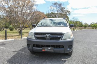 2005 Toyota Hilux GGN15R MY05 SR 4x2 White 5 Speed Manual Cab Chassis