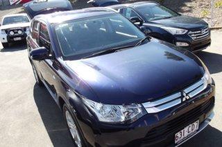 2014 Mitsubishi Outlander ZJ MY14.5 ES 2WD Blue 6 Speed Constant Variable Wagon.