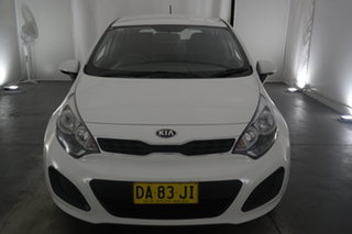 2012 Kia Rio UB MY13 S White 4 Speed Sports Automatic Hatchback.