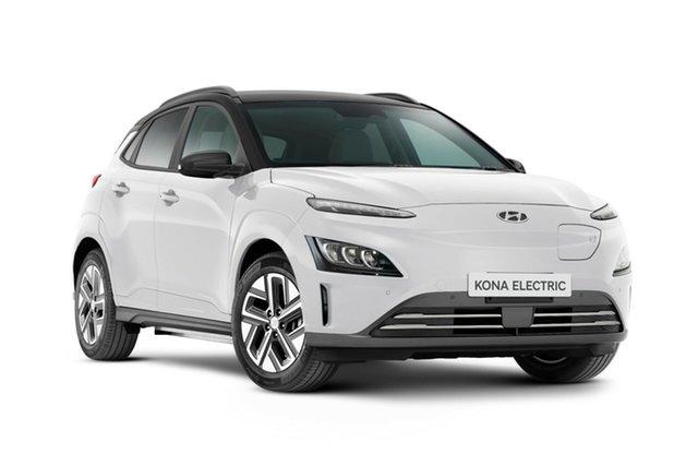 New Hyundai Kona Os.v4 MY21 electric Highlander Nailsworth, 2021 Hyundai Kona Os.v4 MY21 electric Highlander Atlas White & Black Roof 1 Speed Reduction Gear