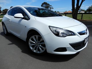 2015 Holden Astra PJ MY15.5 GTC White 6 Speed Automatic Hatchback.