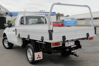 2017 Mitsubishi Triton MQ MY18 GLX 4x2 White Solid 6 Speed Manual Cab Chassis.