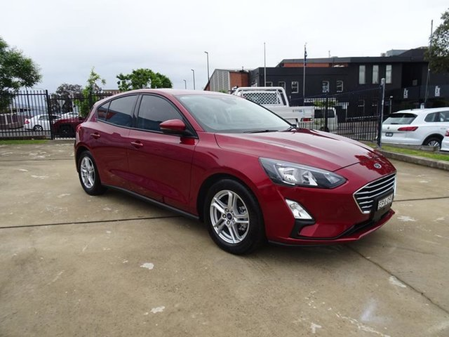 Used Ford Focus SA 2020.25MY Trend Nowra, 2019 Ford Focus SA 2020.25MY Trend Ruby Red 8 Speed Automatic Hatchback