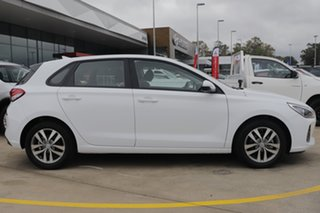 2020 Hyundai i30 PD2 MY20 Active D-CT Polar White 7 Speed Sports Automatic Dual Clutch Hatchback.