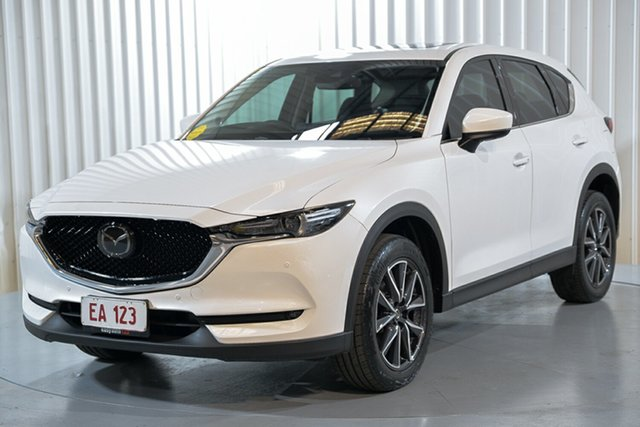 Used Mazda CX-5 KE1032 Akera SKYACTIV-Drive i-ACTIV AWD Hendra, 2017 Mazda CX-5 KE1032 Akera SKYACTIV-Drive i-ACTIV AWD White 6 Speed Sports Automatic Wagon