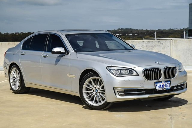 Used BMW 7 Series F01 LCI 730d Steptronic Osborne Park, 2014 BMW 7 Series F01 LCI 730d Steptronic Silver, Chrome 8 Speed Sports Automatic Sedan
