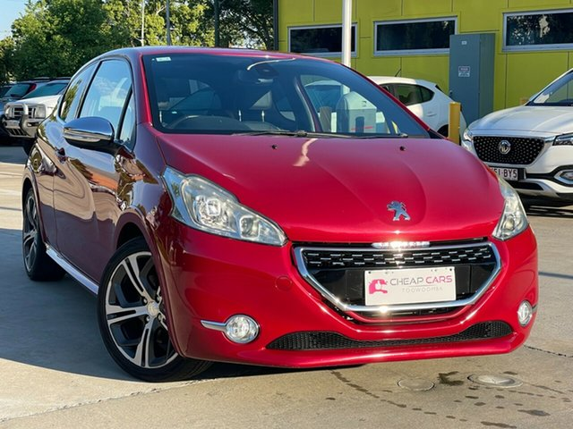 Used Peugeot 208 A9 MY13 GTi Toowoomba, 2013 Peugeot 208 A9 MY13 GTi Red 6 Speed Manual Hatchback