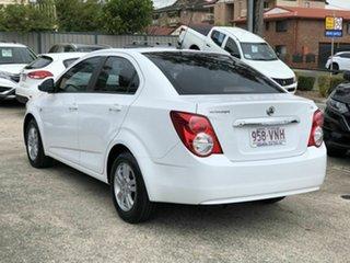 2014 Holden Barina TM MY15 CD White 6 Speed Automatic Sedan.