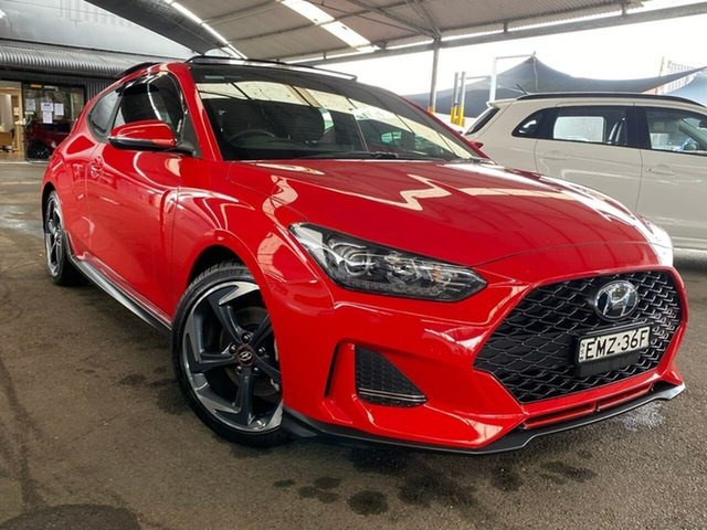 Used Hyundai Veloster JS MY20 Turbo Coupe D-CT Premium Tuggerah, 2019 Hyundai Veloster JS MY20 Turbo Coupe D-CT Premium Red 7 Speed Sports Automatic Dual Clutch
