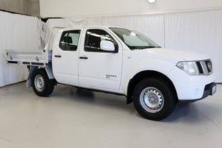 2013 Nissan Navara D40 S7 MY12 RX White 6 Speed Manual Cab Chassis.