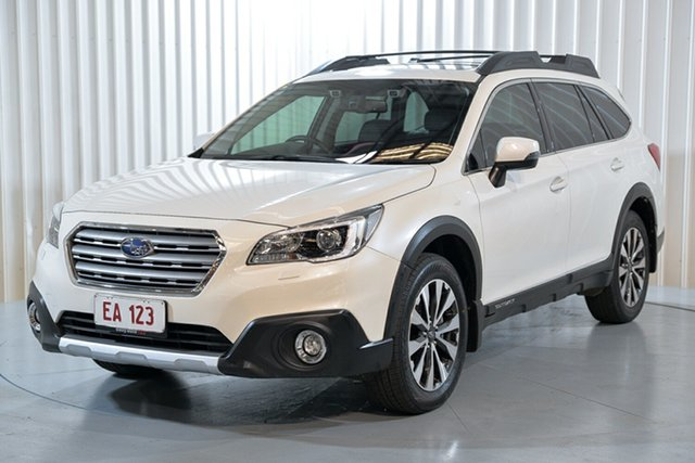 Used Subaru Outback B6A MY16 2.5i CVT AWD Premium Hendra, 2016 Subaru Outback B6A MY16 2.5i CVT AWD Premium White 6 Speed Constant Variable Wagon