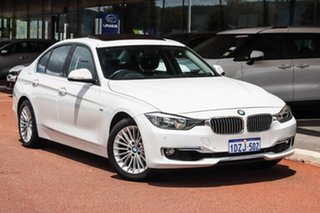 2012 BMW 320i F30 320i White 8 Speed Sports Automatic Sedan.