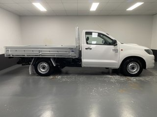 2012 Toyota Hilux KUN16R MY12 SR 4x2 White 5 Speed Manual Cab Chassis