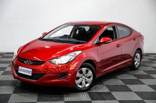 2013 Hyundai Elantra MD2 Active Red 6 Speed Sports Automatic Sedan.