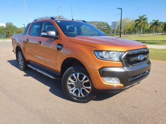 Used Ford Ranger PX MkII 2018.00MY Wildtrak Double Cab Townsville, 2018 Ford Ranger PX MkII 2018.00MY Wildtrak Double Cab Pride Orange 6 Speed Sports Automatic Utility