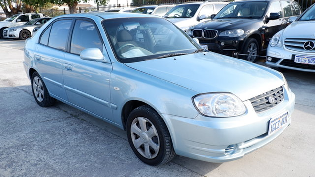 Used Hyundai Accent LC MY04 GL St James, 2005 Hyundai Accent LC MY04 GL Blue 4 Speed Automatic Hatchback