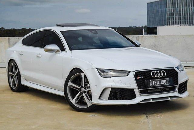 Used Audi RS 7 4G MY15 Sportback Tiptronic Quattro Osborne Park, 2015 Audi RS 7 4G MY15 Sportback Tiptronic Quattro White 8 Speed Sports Automatic Hatchback
