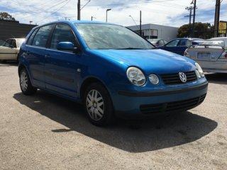 2004 Volkswagen Polo 9N MY2004 Match Blue 5 Speed Manual Hatchback.