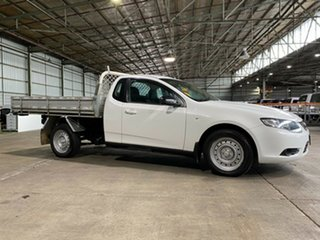 2009 Ford Falcon FG Super Cab White 4 Speed Automatic Cab Chassis.