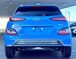 2021 Hyundai Kona Os.v4 MY21 electric Highlander Surfy Blue & Black Roof 1 Speed Reduction Gear